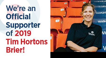 We're an official supporter of 2019 Tim Hortons Brier