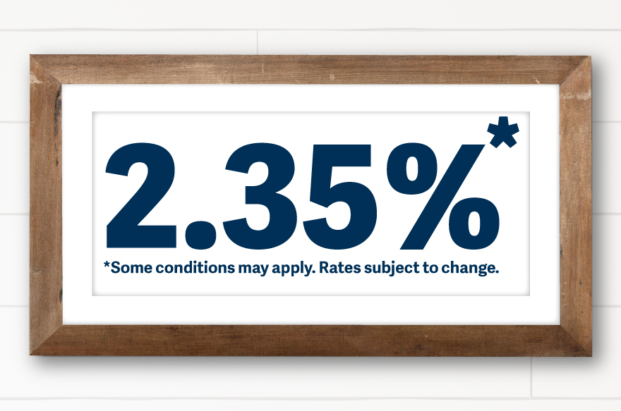 Mortgage Rates as low as 2.35%* *Some conditions may apply, rates subject to change