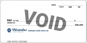 Void cheque from direct deposit