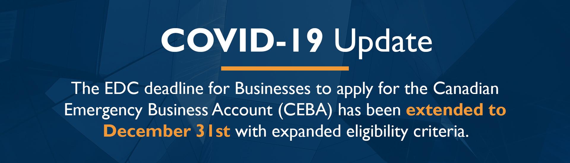 CEBA Extended to December 31st
