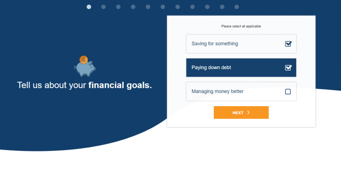 Westoba Financial Fitness Quiz Screenshot