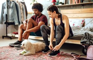 Westoba Financial Fitness Checkup Couple with Dog
