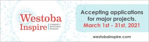Westoba Inspire - Accepting Applications for funding March 1st - 31st, 2021