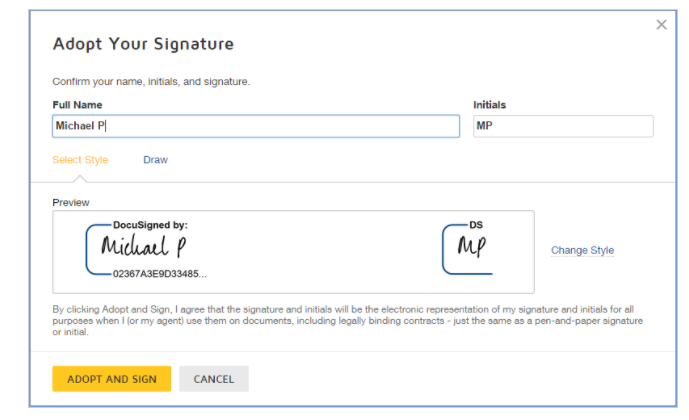 DocuSign how to sign